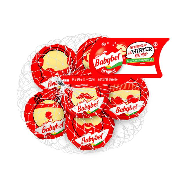 Babybel Natural Cheese 6 x 20g