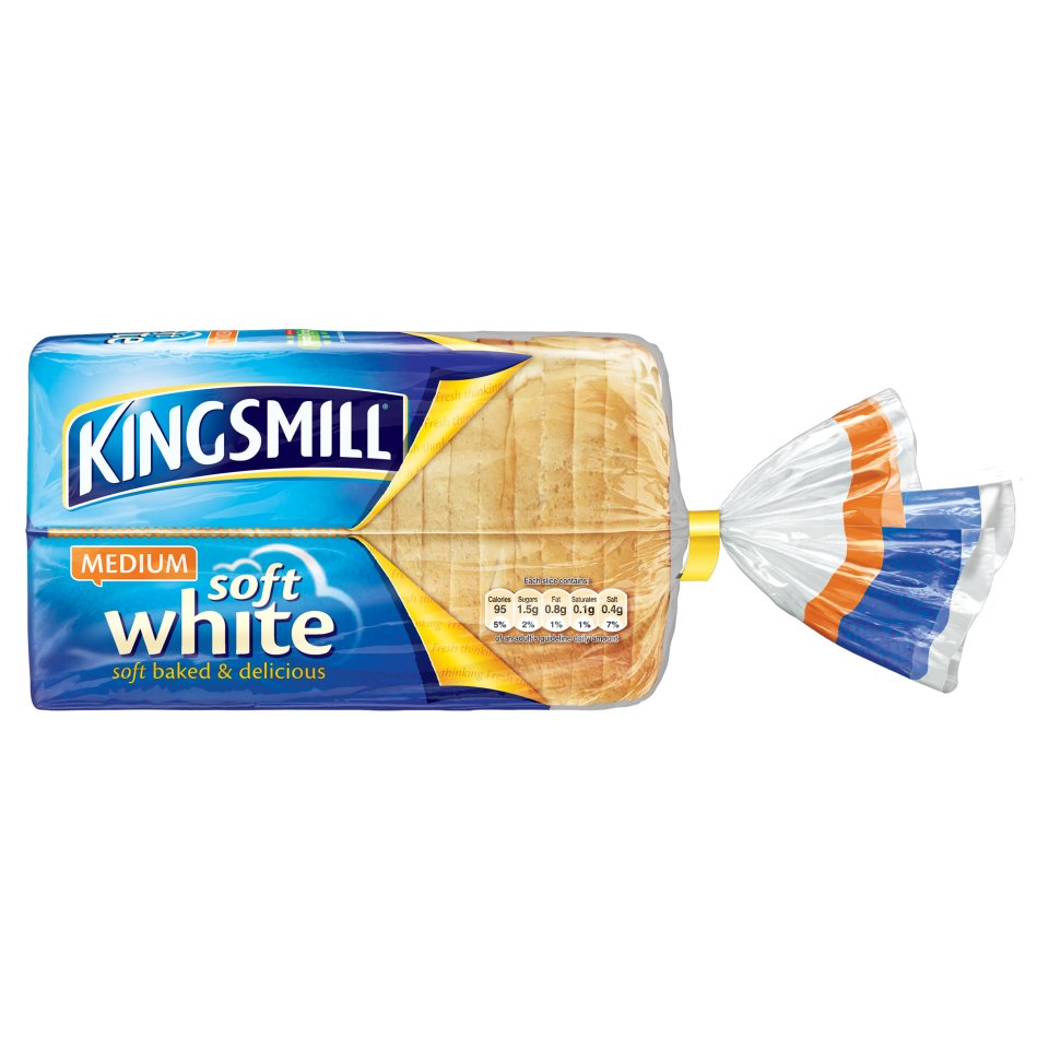 Braces Medium Sliced White Bread 800g