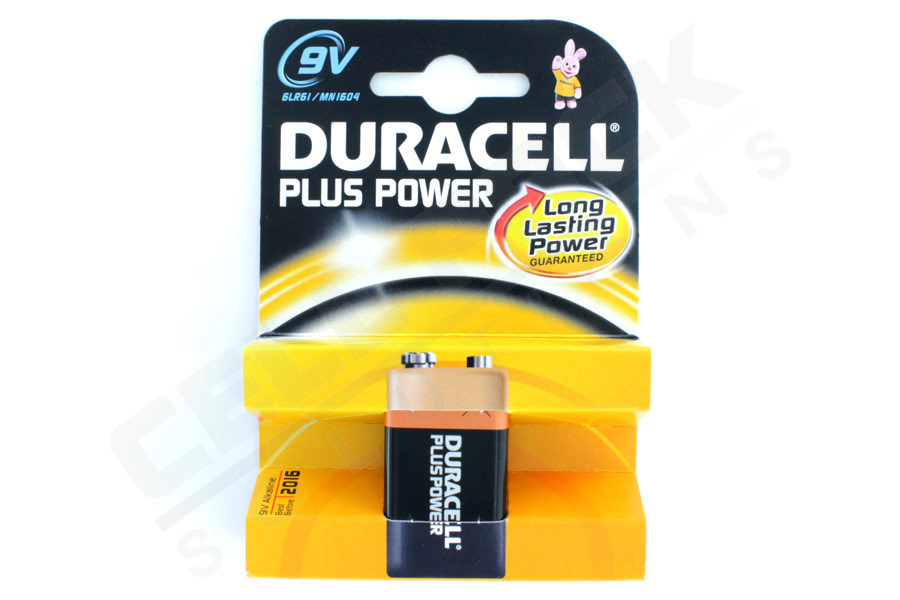 Duracell Plus 9V Battery (single)