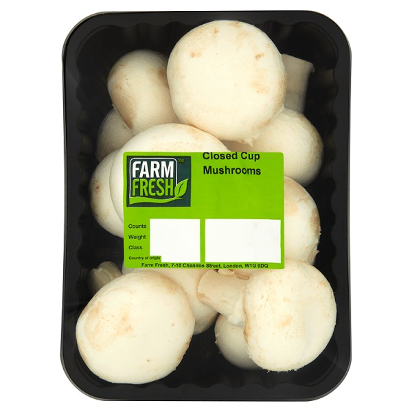 Farm Fresh Closed Cup Mushrooms 250g