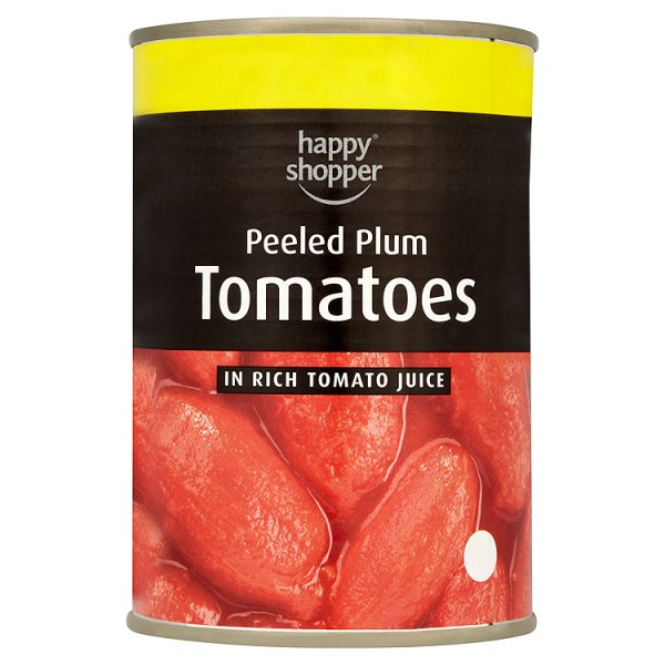 Happy Shopper Peeled Plum Tomatoes in Rich Tomato Juice 400g