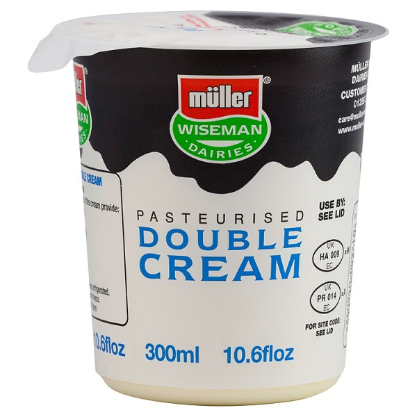 Muller Wiseman Pasteurised Double Cream 300ml