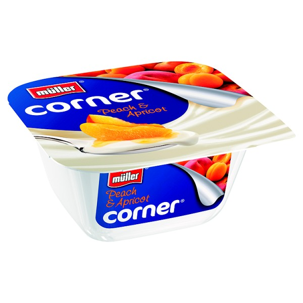 Muller Fruit Corner Peach and Apricot Yogurt 150g