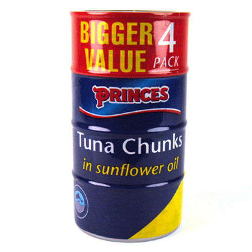 Princes Tuna Chunks in Sunflower Oil **MULTI PACK**4 cans x 160g