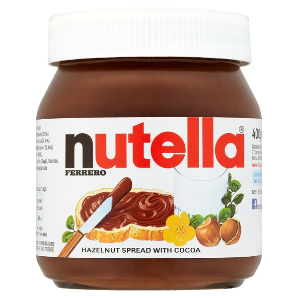 Nutella Ferrero Hazelnut Spread With Cocoa 400g