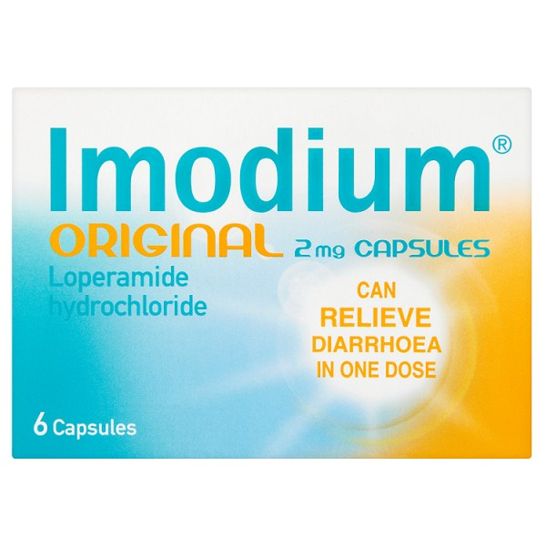 Imodium Original 2mg Capsules x 6