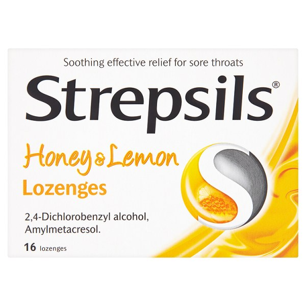 Strepsils Honey and Lemon Lozenges x 16