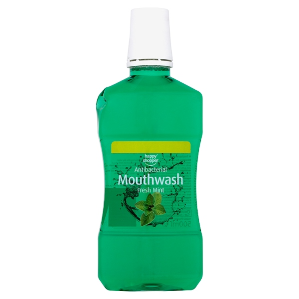 Happy Shopper Antibacterial Mouthwash Fresh Mint 500ml