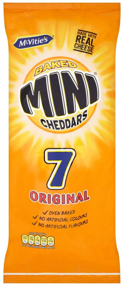 Jacob's Mini Cheddars (6 Packs) 25g per pack
