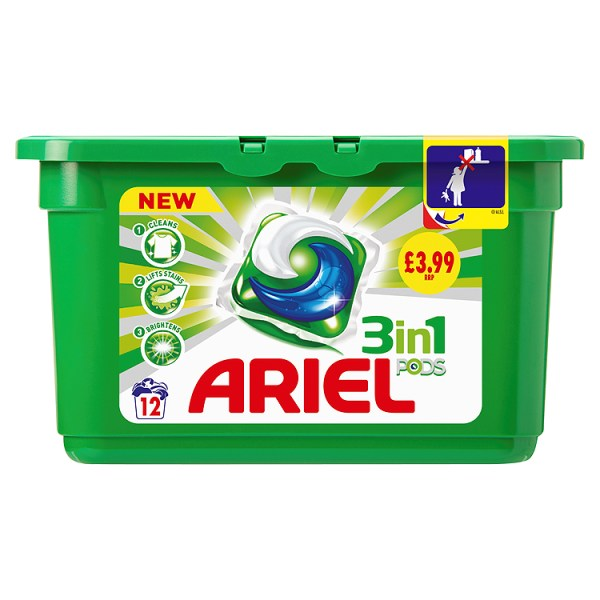 Ariel 3 in 1 PODS Regular Washing Capsules Liquitabs x15 Washes