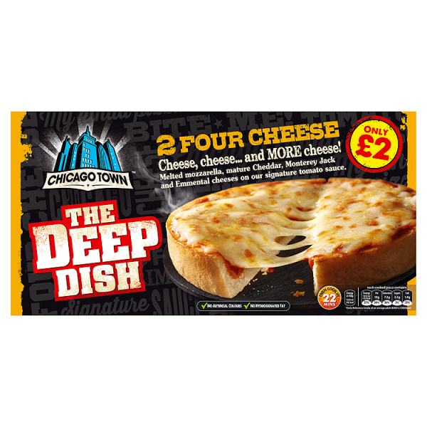 Chicago Town The Deep Dish 4 Cheese Pizzas 2 x 155g
