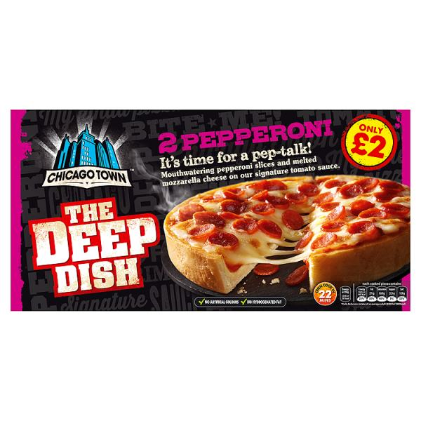 Chicago Town The Deep Dish Pepperoni Pizza 2 x 160g