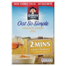 Oat So Simple 2 Minute Porridge Golden Syrup 8 x 27g