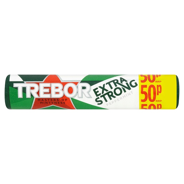 Trebor Extra Strong Peppermint Mints Roll 41g