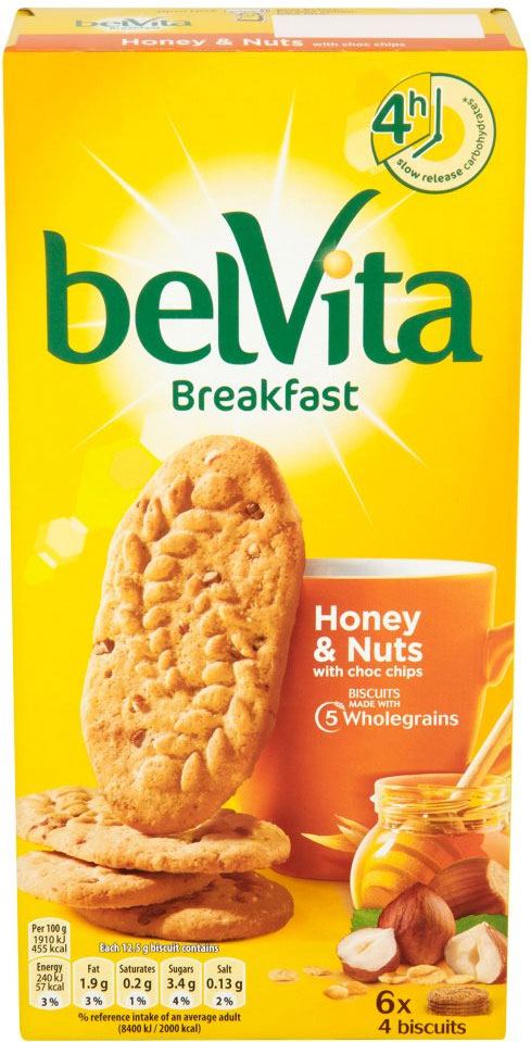 Belvita Breakfast Biscuits Honey and Nuts 1 Box (5 packs)