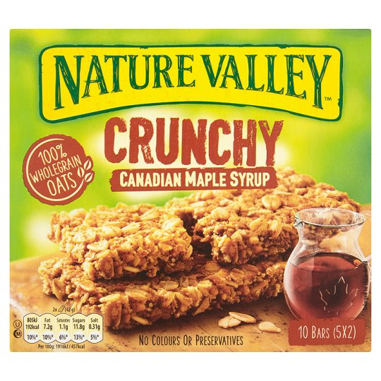 Nature Valley Crunchy Canadian Maple Syrup 10 bars - Click Image to Close