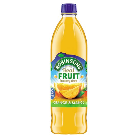 Robinsons Orange and Mango Squash No Added Sugar 1 Litre