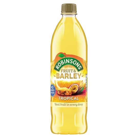 Robinsons Fruit & Barley Tropical Squash No Added Sugar 1 Litre