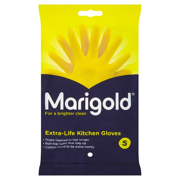 Marigold Kitchen Gloves Extra Life Small