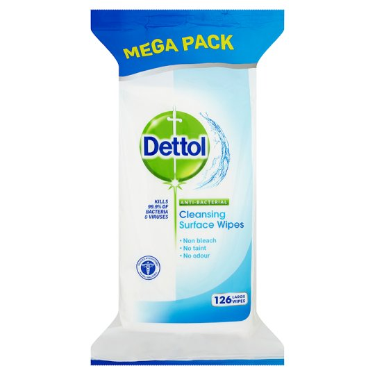Dettol Anti-Bacterial Surface Wipes (126)