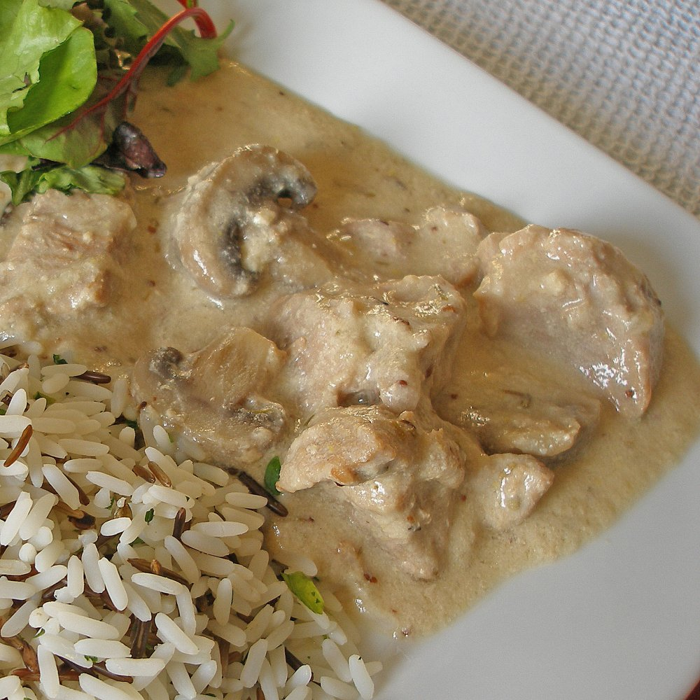Pork Stroganoff Handmade Meal for One 300g Gluten Free