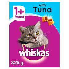 Whiskas 1+ Complete Dry with Tuna 825g