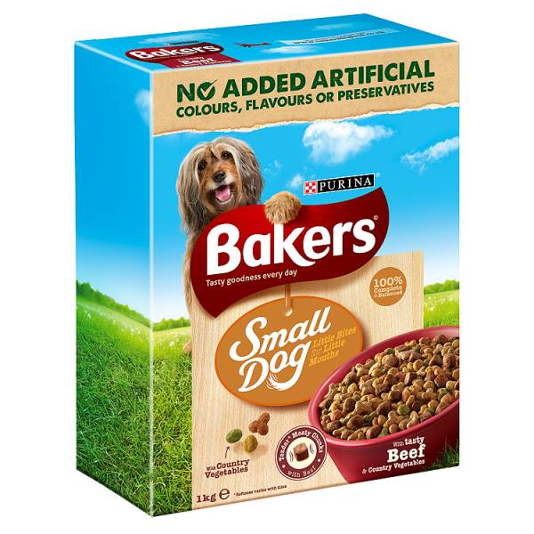 Bakers Complete Small Dog Beef & Country Veg 1kg