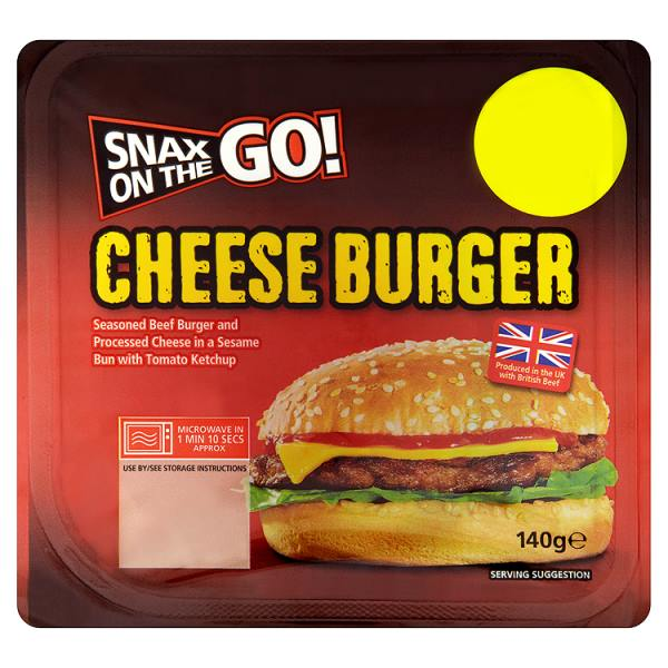Snax On The Go Cheese Burger 140g