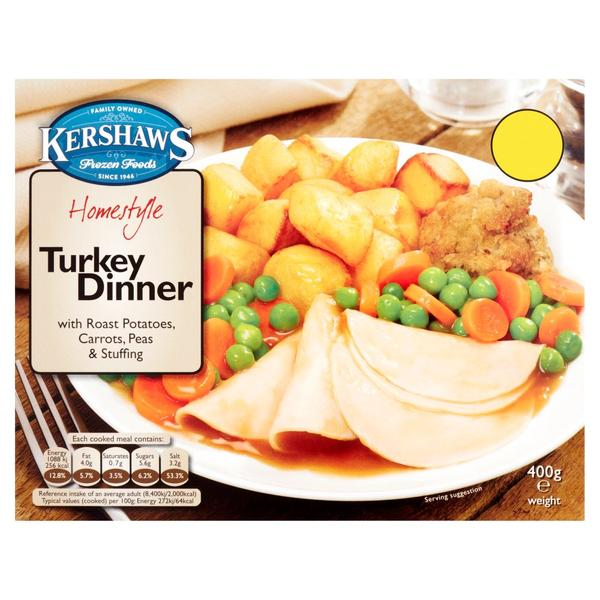 Kershaws Homestyle Roast Turkey Dinner 400g