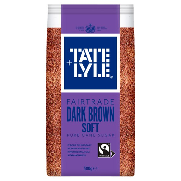 Tate & Lyle Fairtrade Dark Brown Soft Pure Cane Sugar 500g