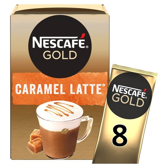 Nescafe Gold Caramel Latte Coffee (8) Sachets