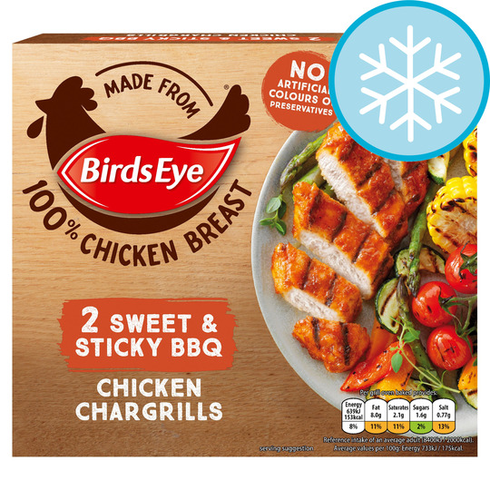 Birds Eye 2 X Chicken Chargrills Sweet & Sticky 174G